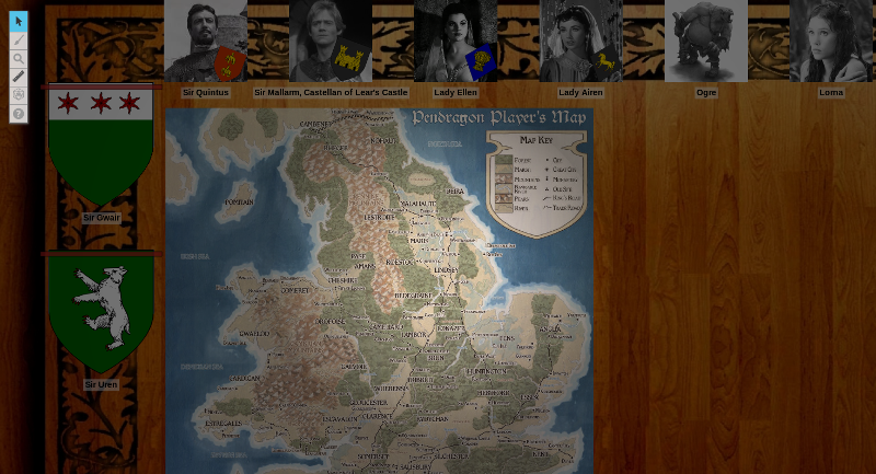 Player's view of the campaign's landing page in Roll20